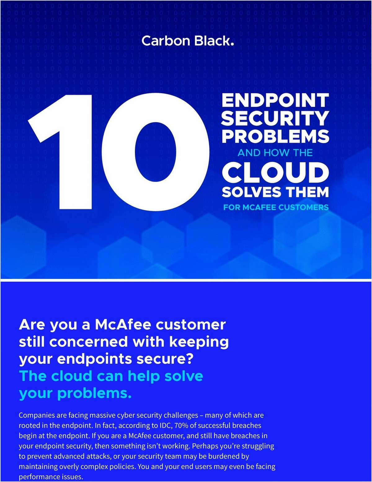 10 Endpoint Security Problems and How the Cloud Solves them for McAfee Users