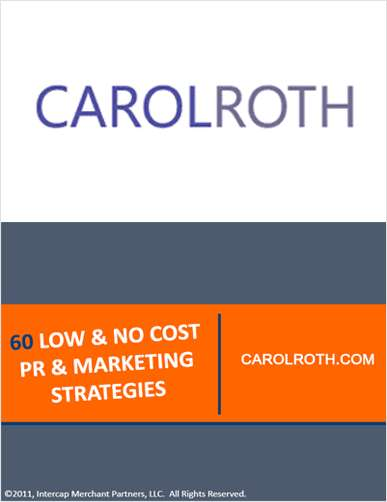 60 Low & No Cost PR & Marketing Strategies