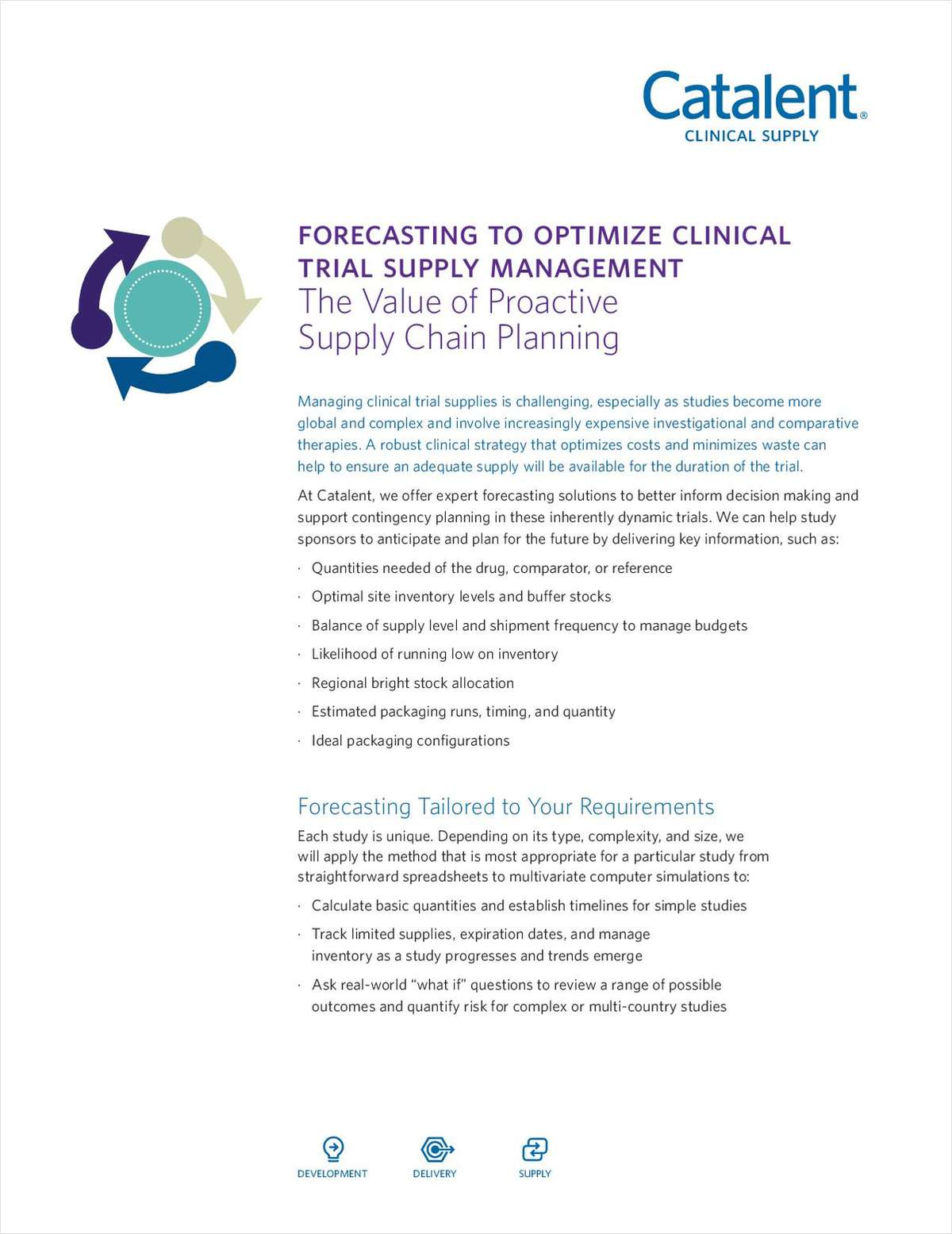 Forecasting to Optimize Clinical Trial Supply Management