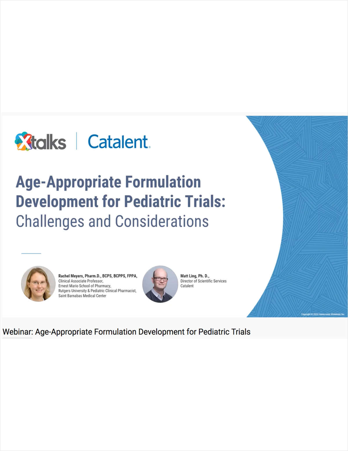 Age-Appropriate Formulation Development for Pediatric Trials-Challenges and Considerations