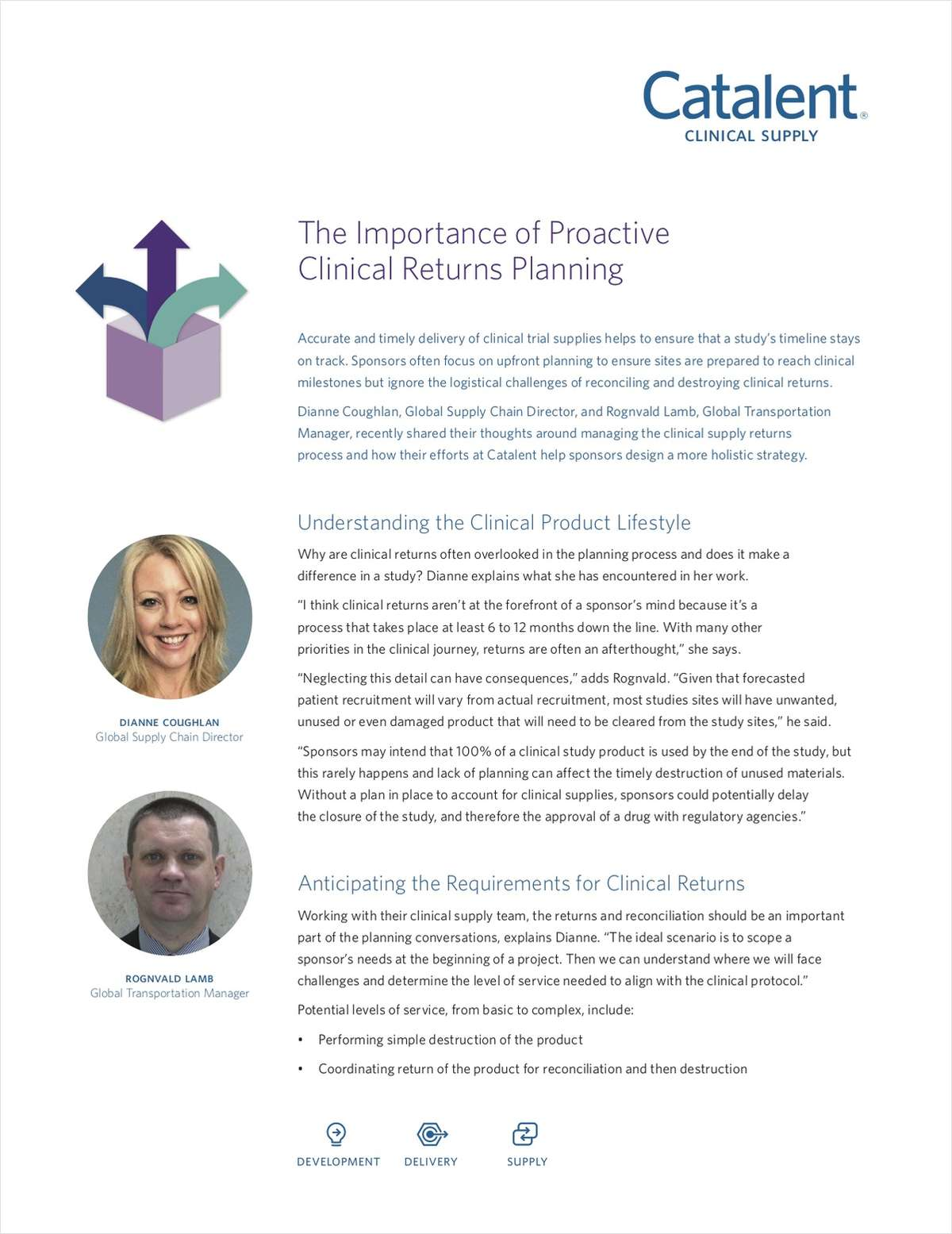 The Importance of Proactive Clinical Returns Planning