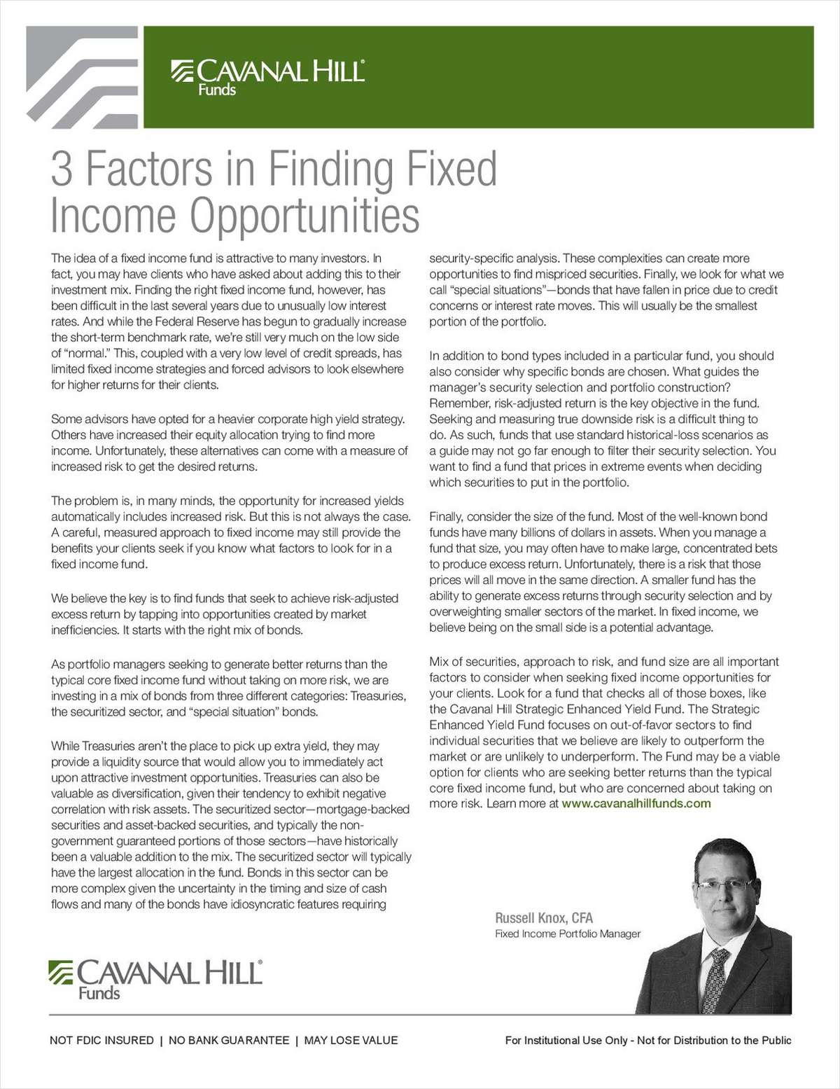 3 Factors in Finding Fixed Income Opportunities