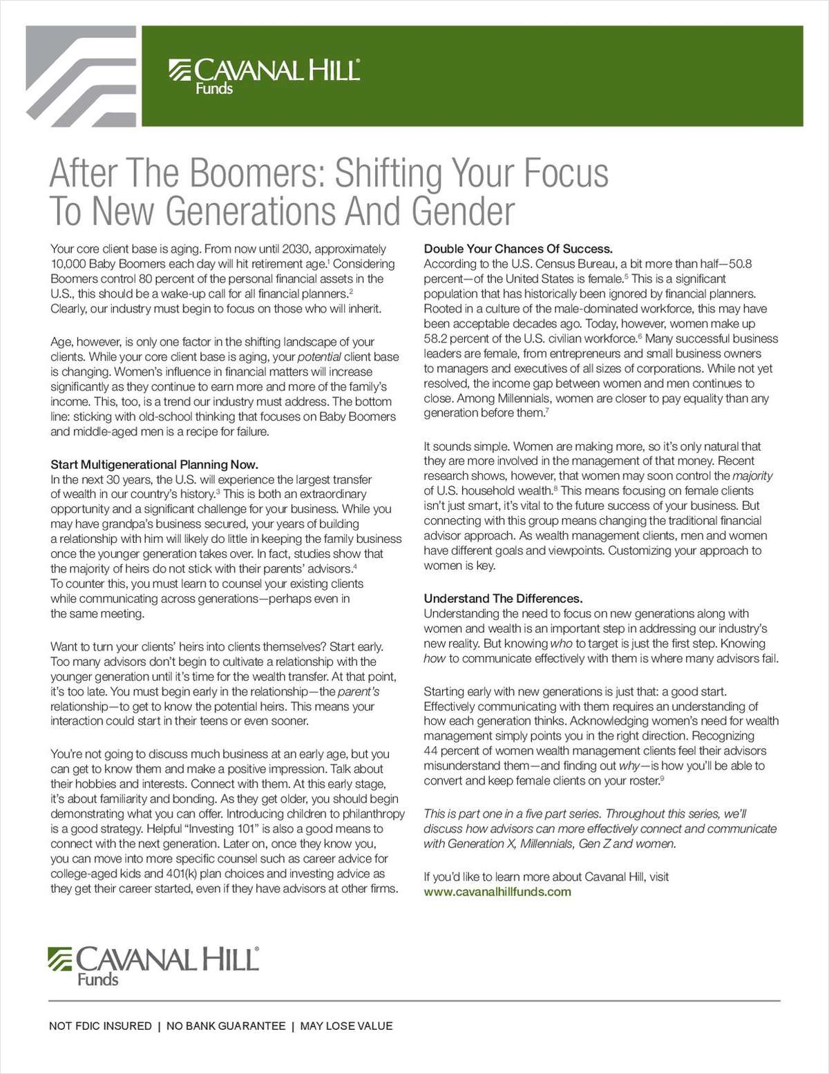 After The Boomers: Shifting Your Focus to New Generations and Gender