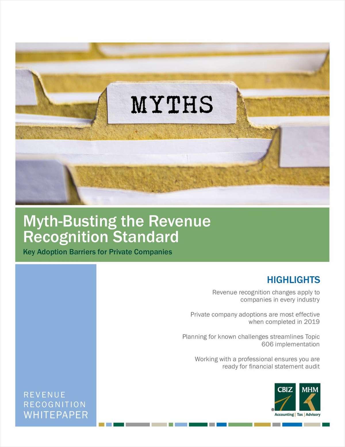 Myth-Busting the Revenue Recognition Standard