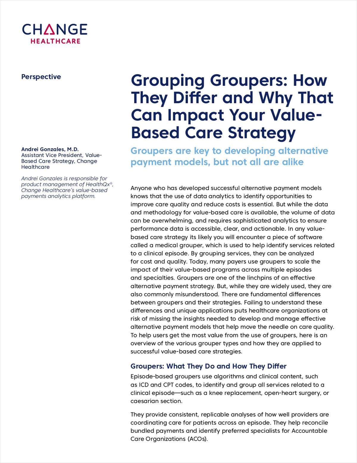 Groupers: How They Differ and Why That Can Impact Your VBC Strategy