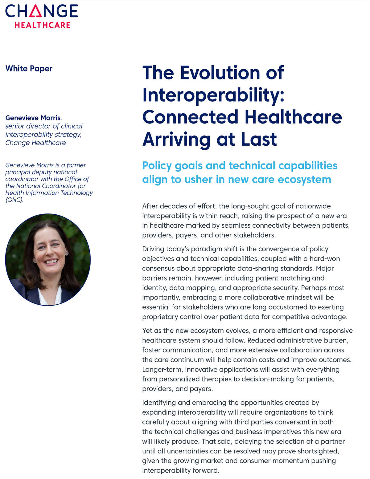 The Evolution of Interoperability: Connected Healthcare Arriving at Last