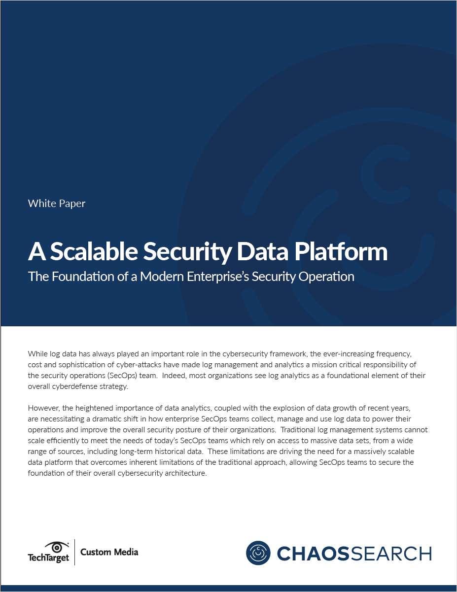 A Scalable Security Data Platform