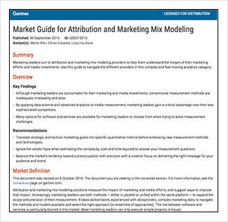 Market Guide for Attribution and Marketing Mix Modeling