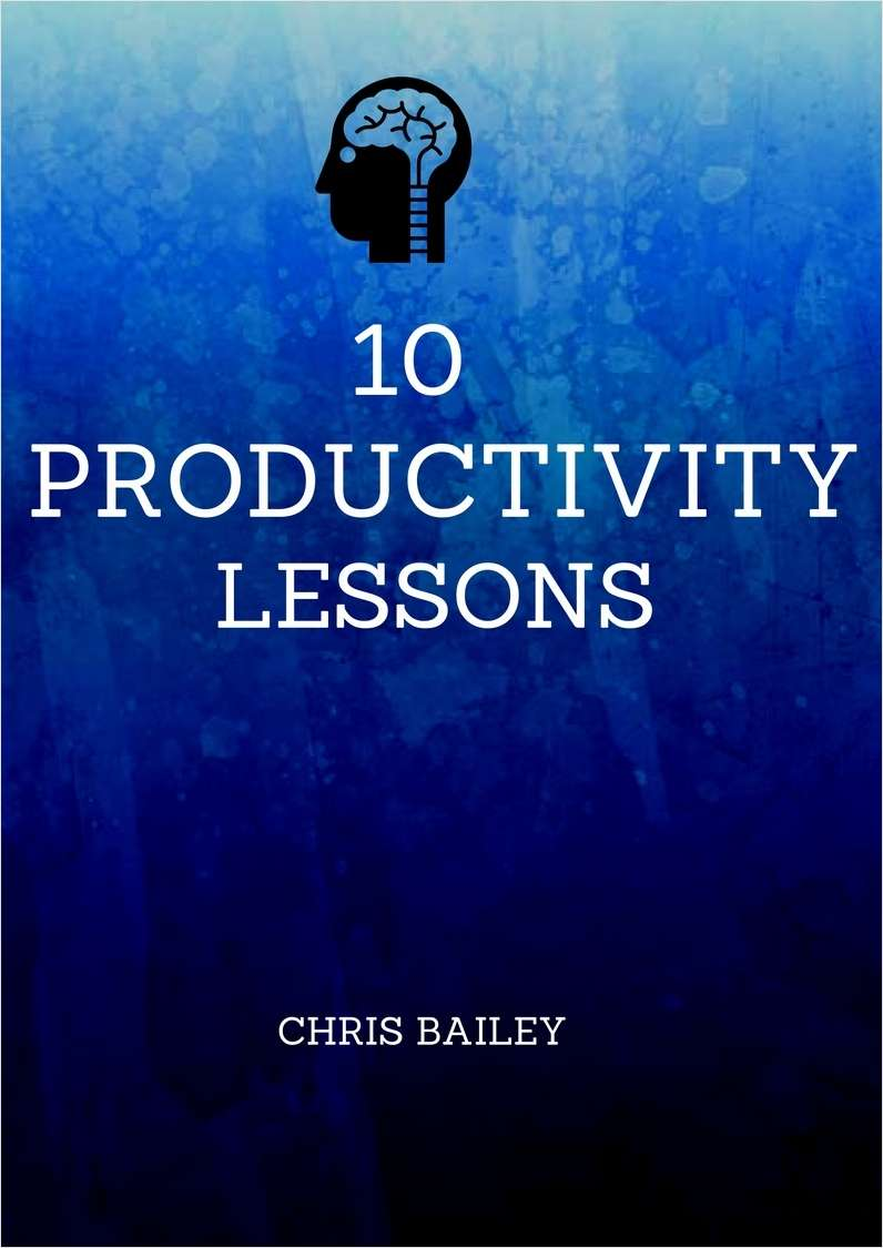 10 Productivity Lessons