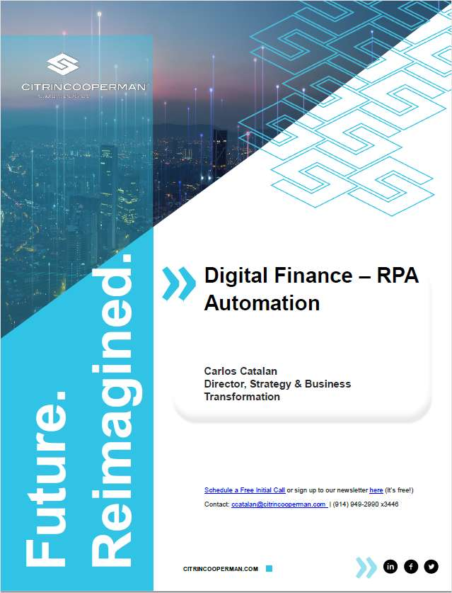 DIGITAL FINANCE  RPA AUTOMATION