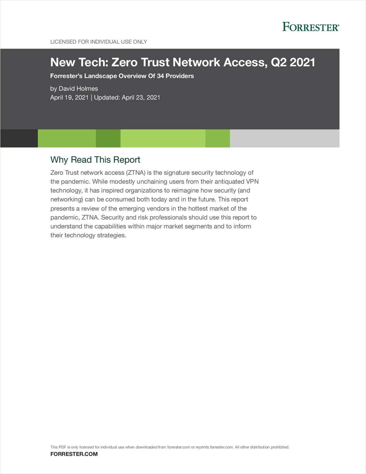 New Tech: Zero Trust Network Access