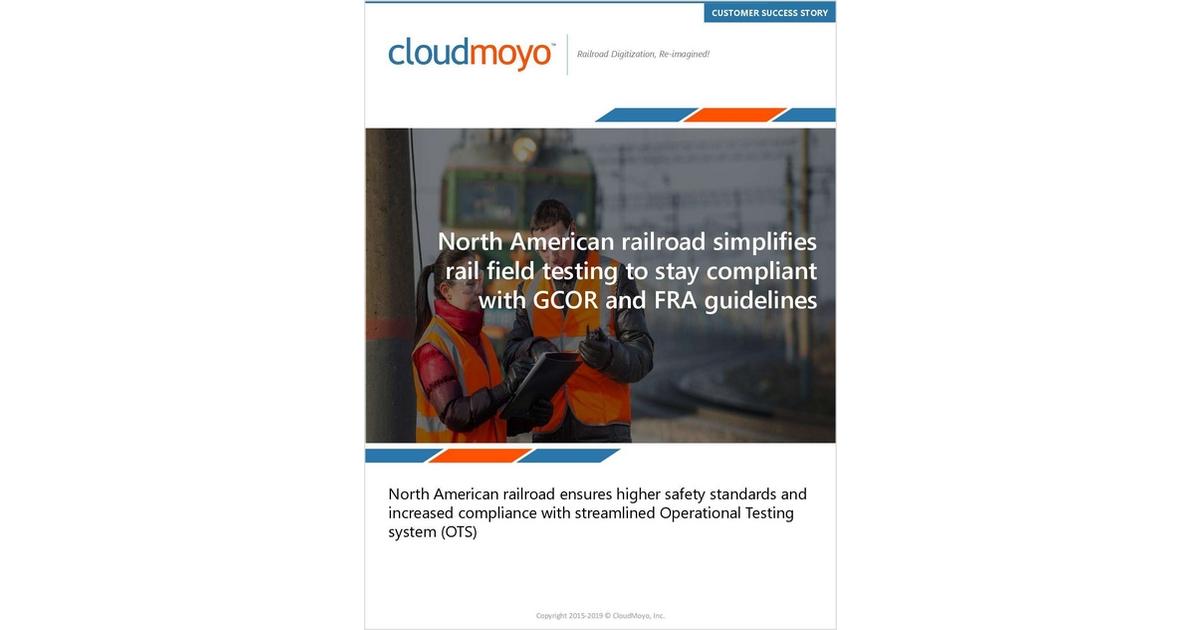 North American Railroad Simplifies Rail Field Testing To