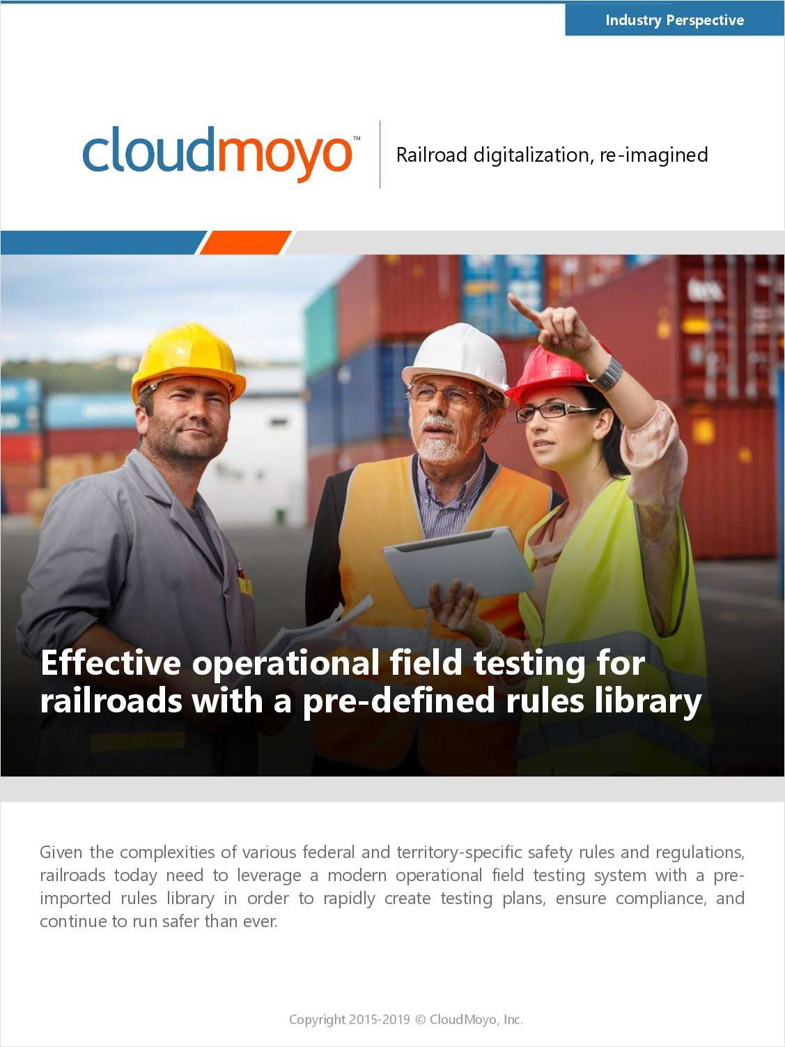 Effective Operational Field Testing for Railroads with a Pre-Defined Rules Library
