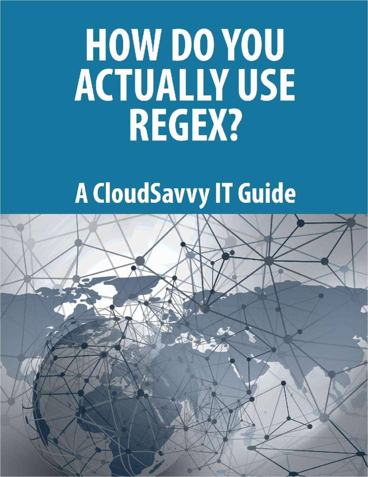 How Do You Actually Use Regex?