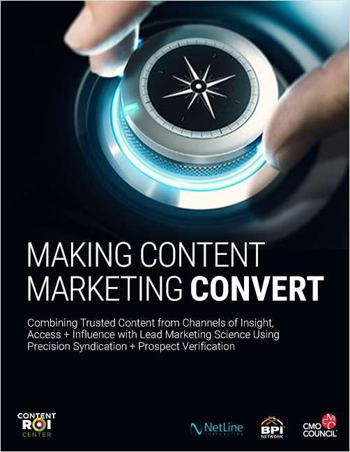 Making Content Marketing Convert