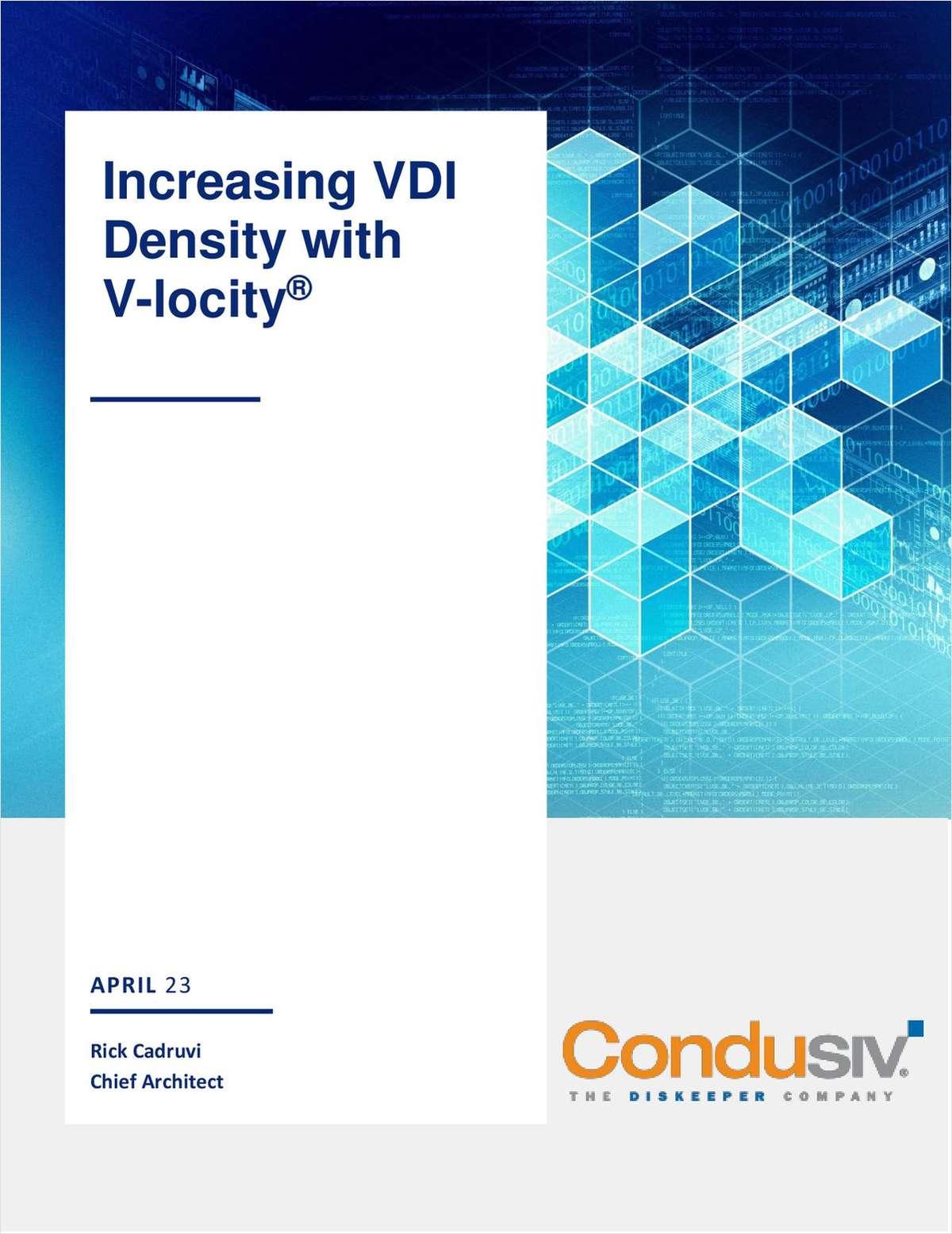 Increasing VDI Density with V-locity