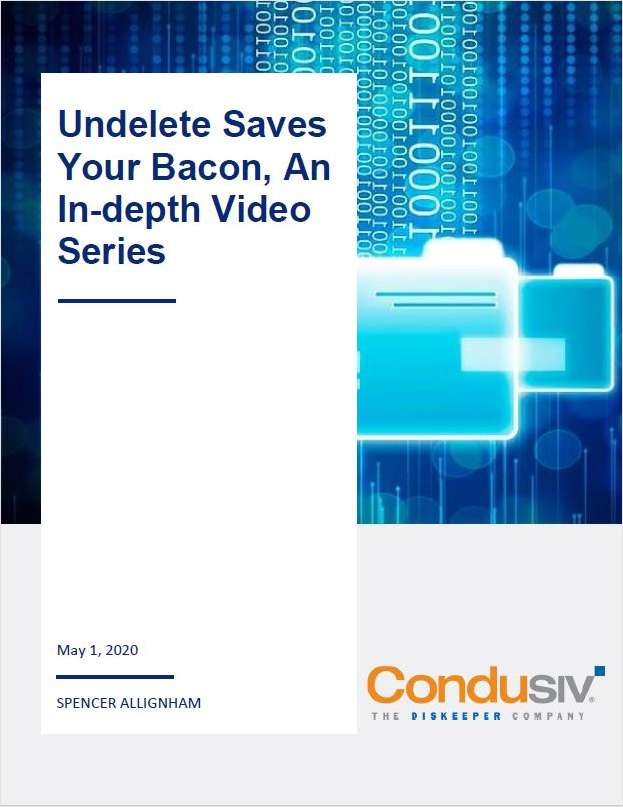 Undelete Saves Your Bacon, An In-depth Video Series