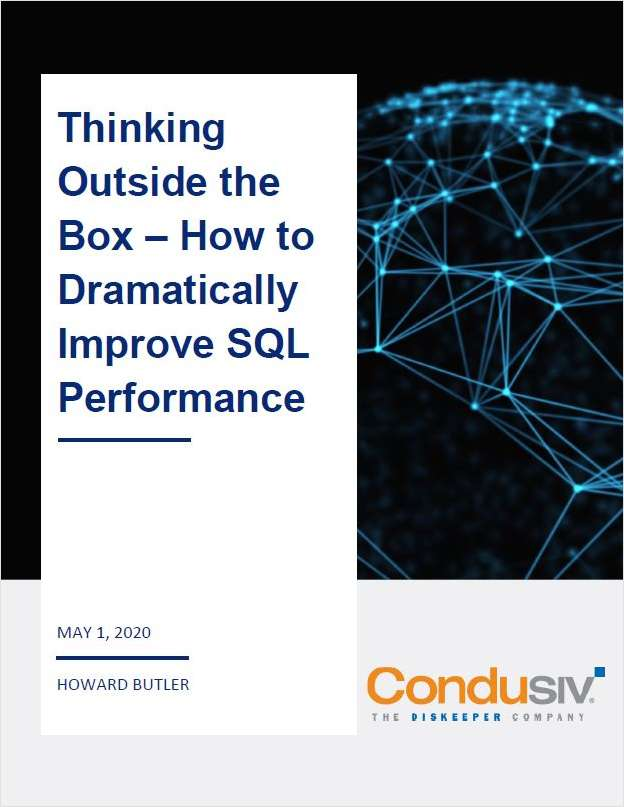 Thinking Outside the Box -- How to Dramatically Improve SQL Performance