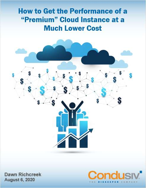 How to Get the Performance of a 'Premium' Cloud Instance at Much Lower Cost