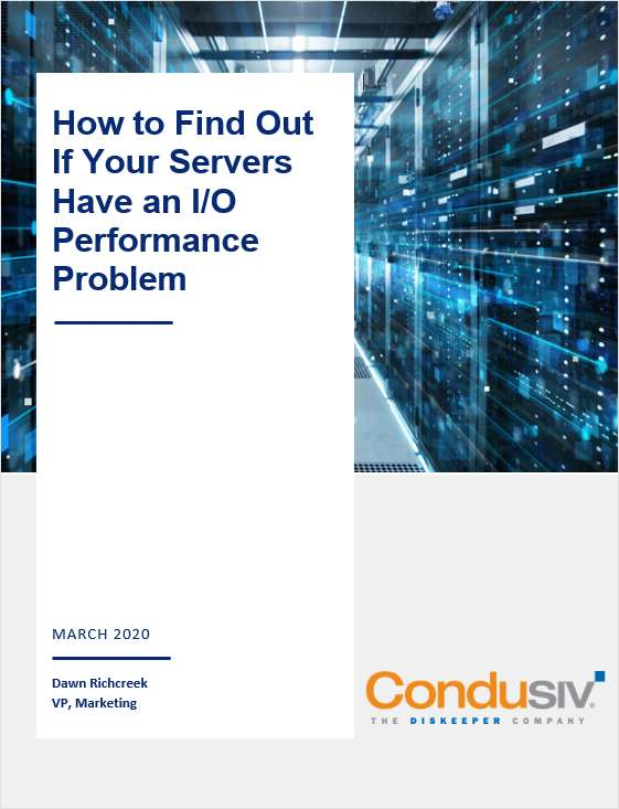 Do Your Servers Have an I/O Performance Problem?