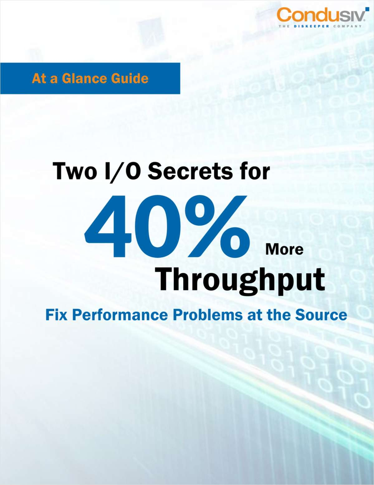 Two I/O Secrets for 40% More Throughput