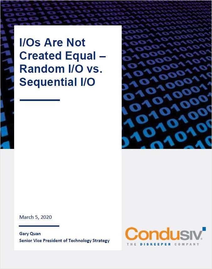I/Os Are Not Created Equal -- Random I/O vs. Sequential I/O