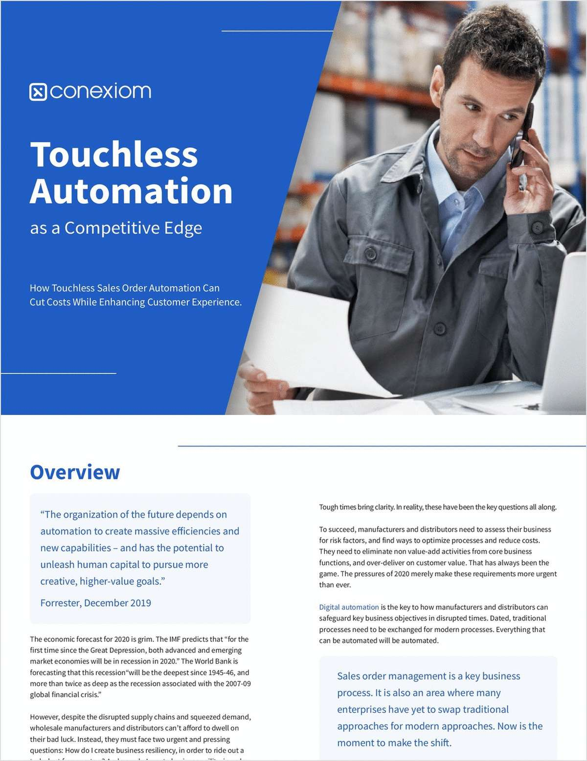 Touchless Automation as a Competitive Edge