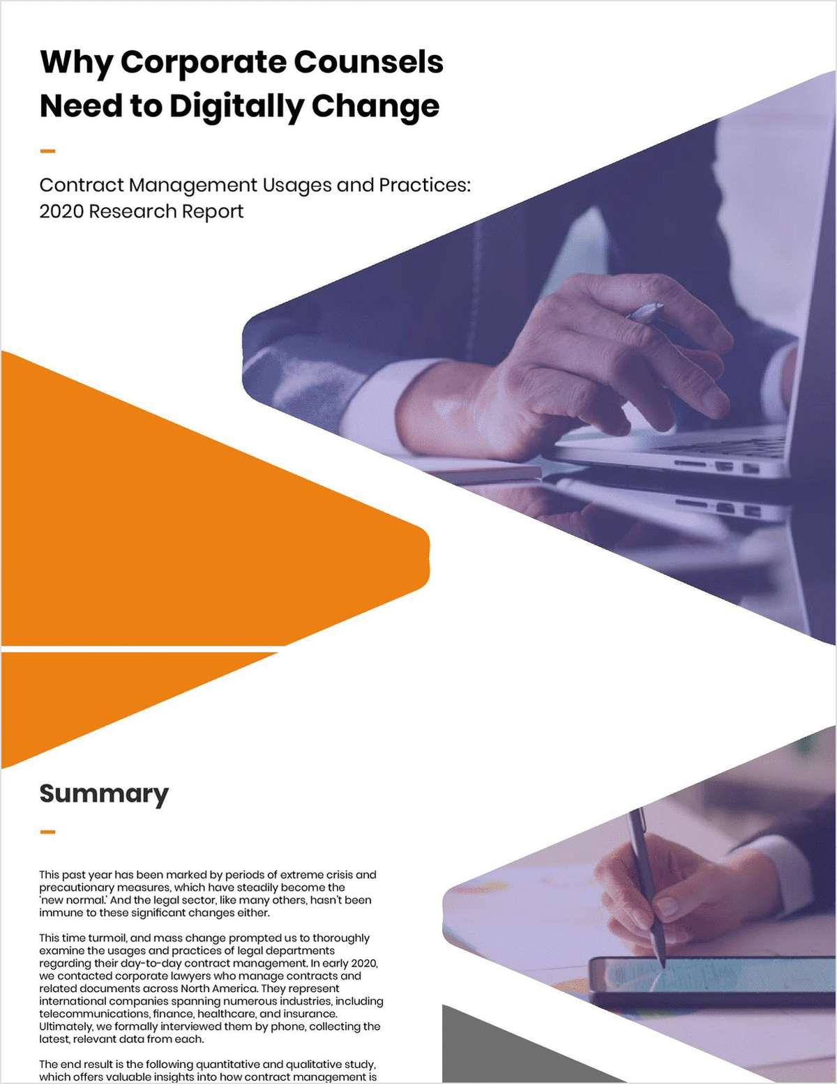 Contract Management Usages and Practices: 2020 Research Report