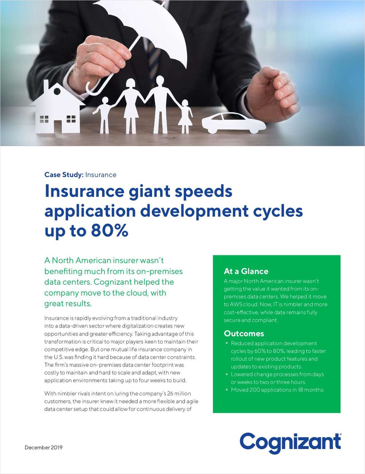 Insurance giant speeds application development cycles up to 80%