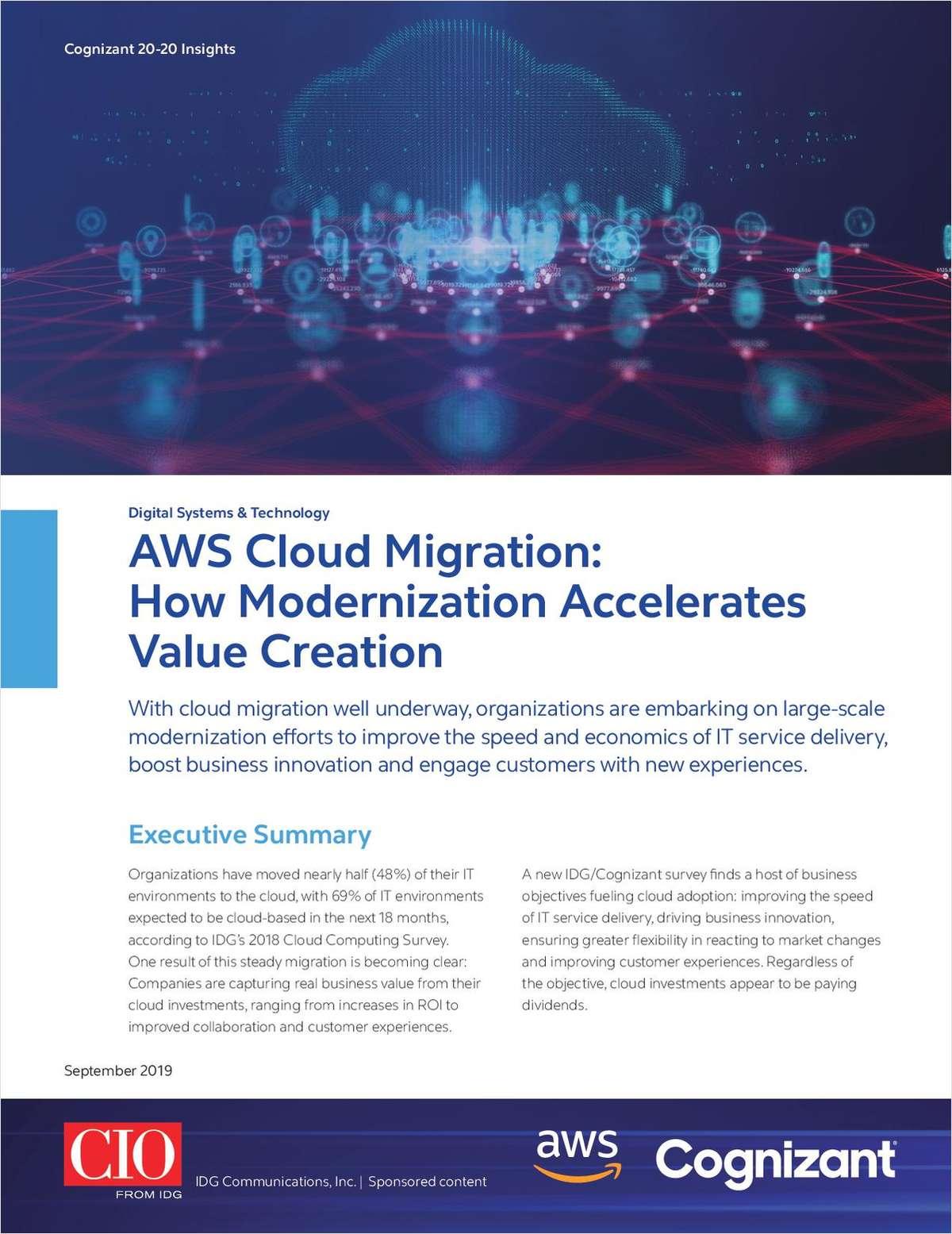 AWS Cloud Migration: How Modernization Accelerates Value Creation