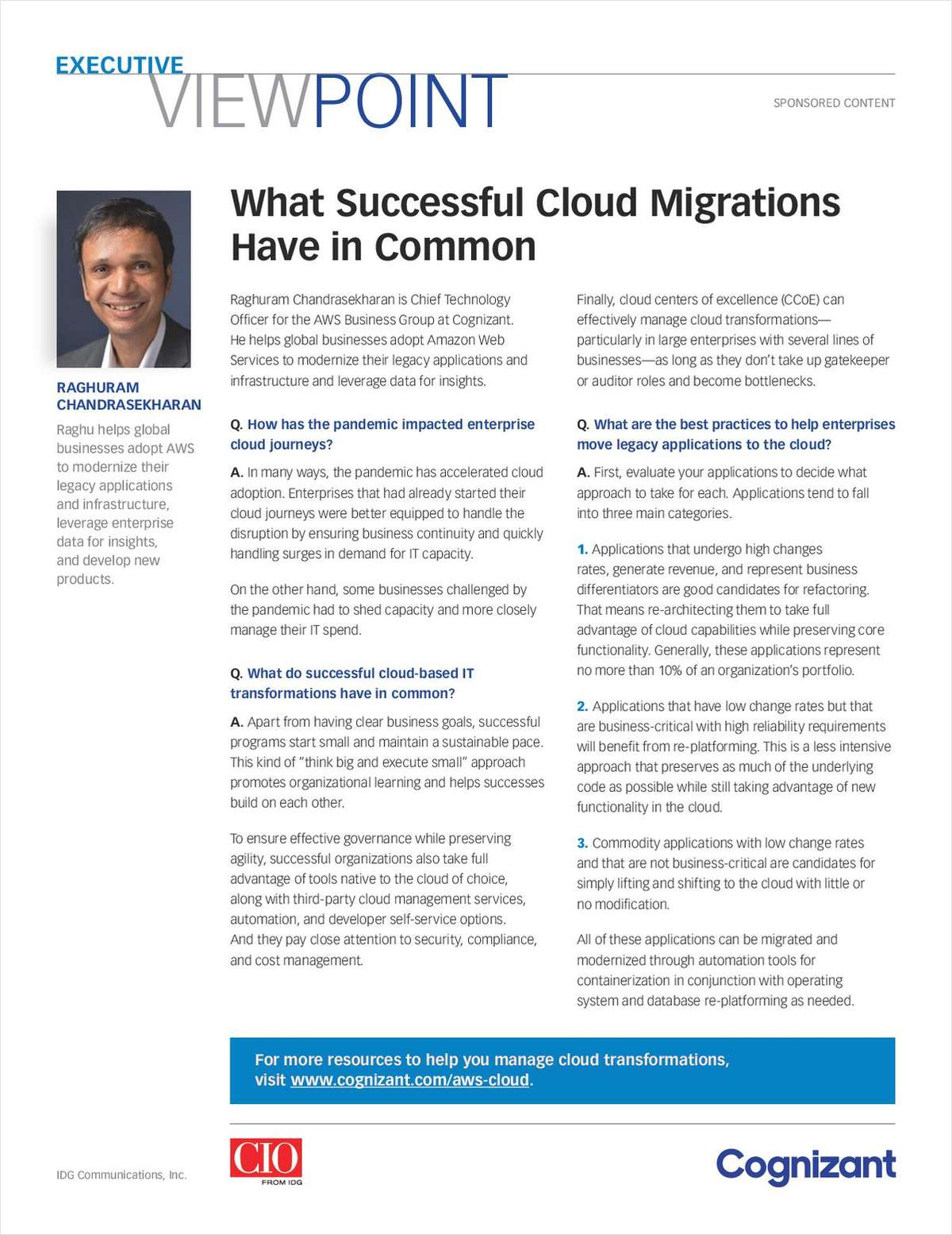 What Successful Cloud Migrations Have in Common