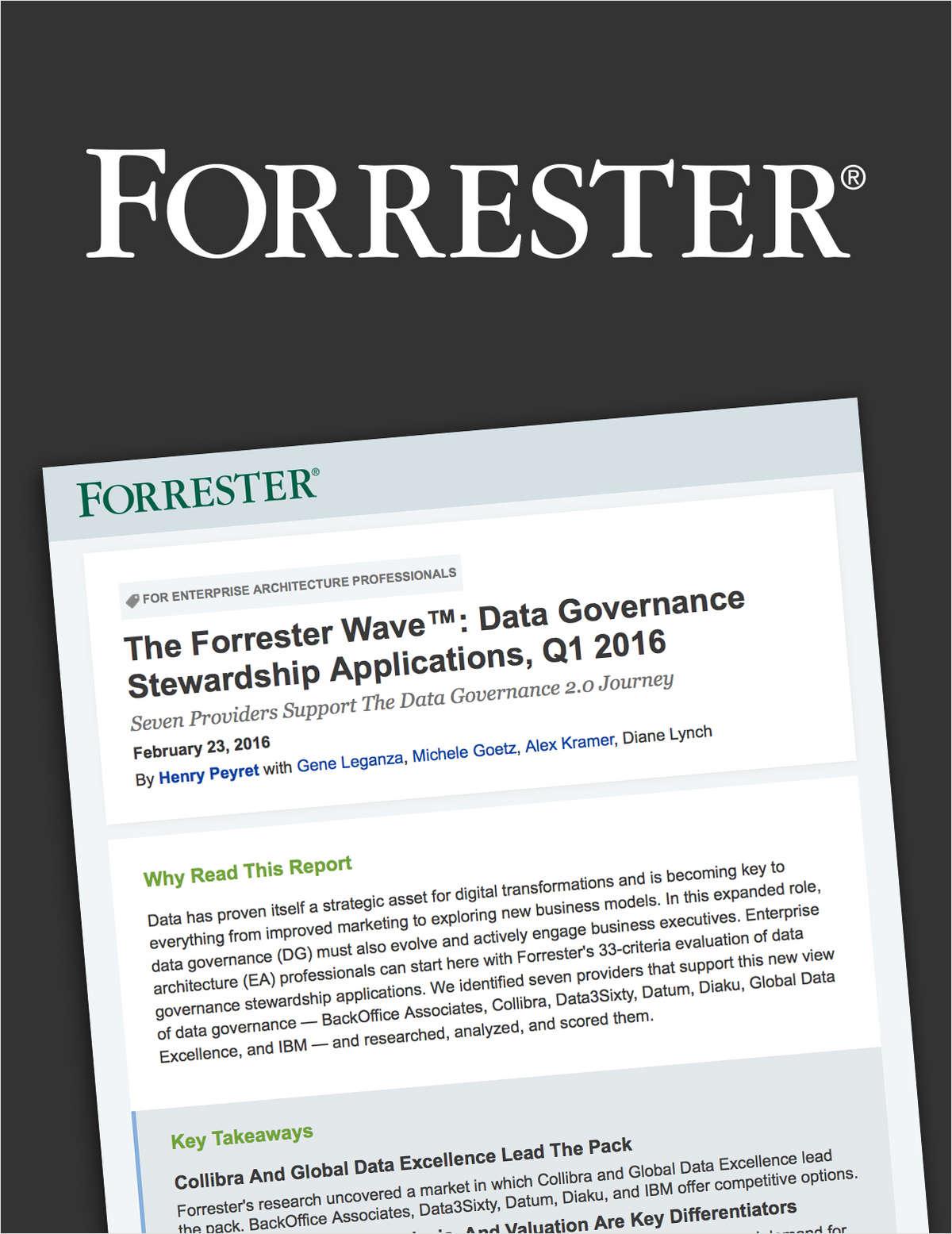 The Forrester Wave: Data Governance Stewardship Applications, Q1'16