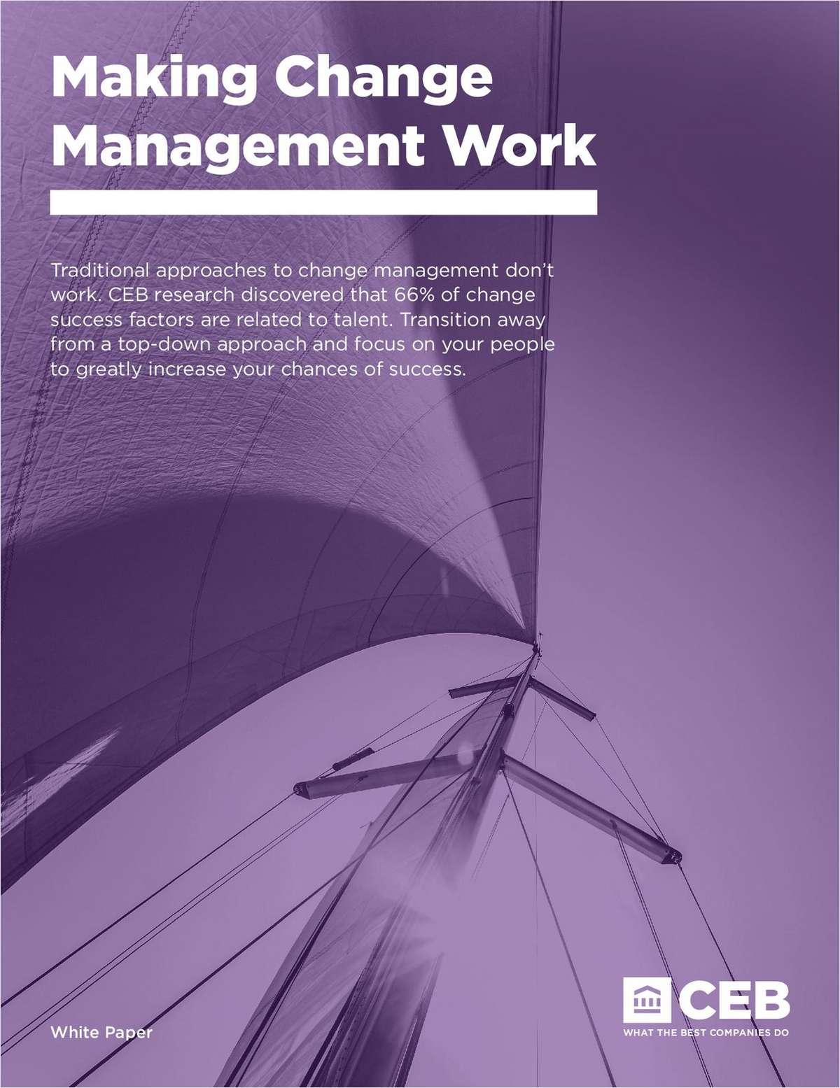 Making Change Management Work