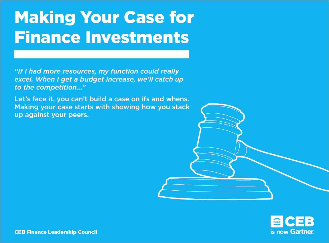 Making Your Case for Finance Investments