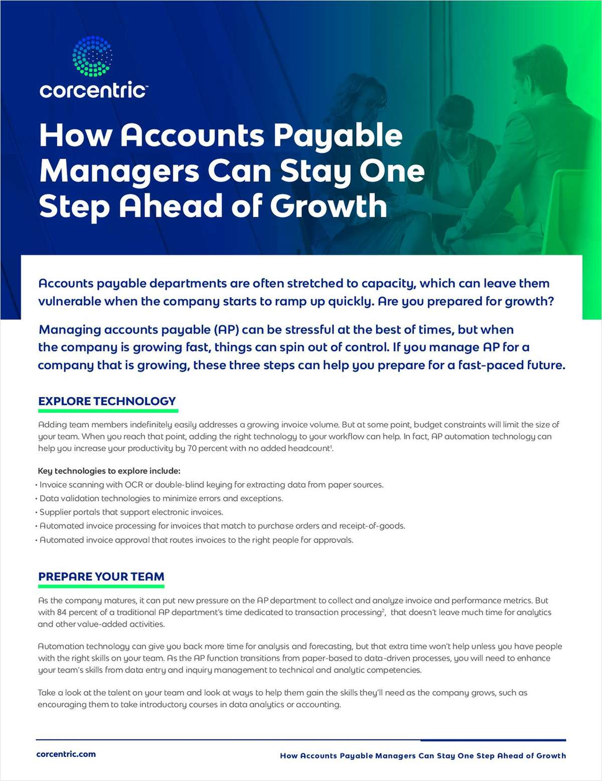 How Accounts Payable Managers Can Stay One Step Ahead of Growth