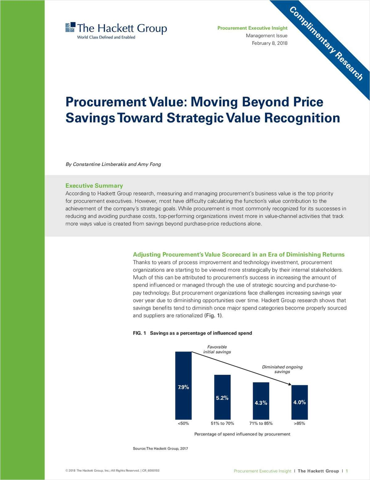 Procurement Value: Moving Beyond Price Savings Towards Strategic Value Recognition
