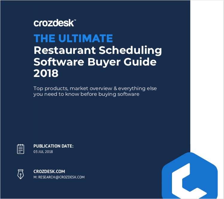 Restaurant Scheduling Software Buyer Guide 2018