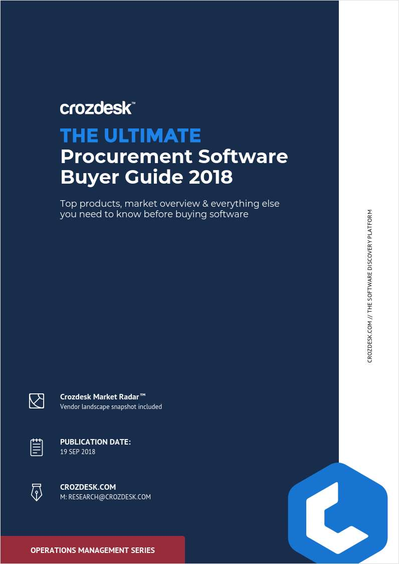 Procurement Management Buyer Guide 2018