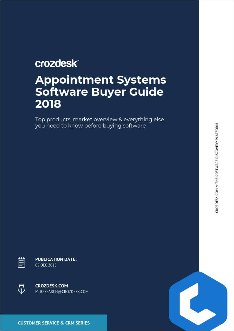 Appointment Scheduling Software Buyer Guide 2018