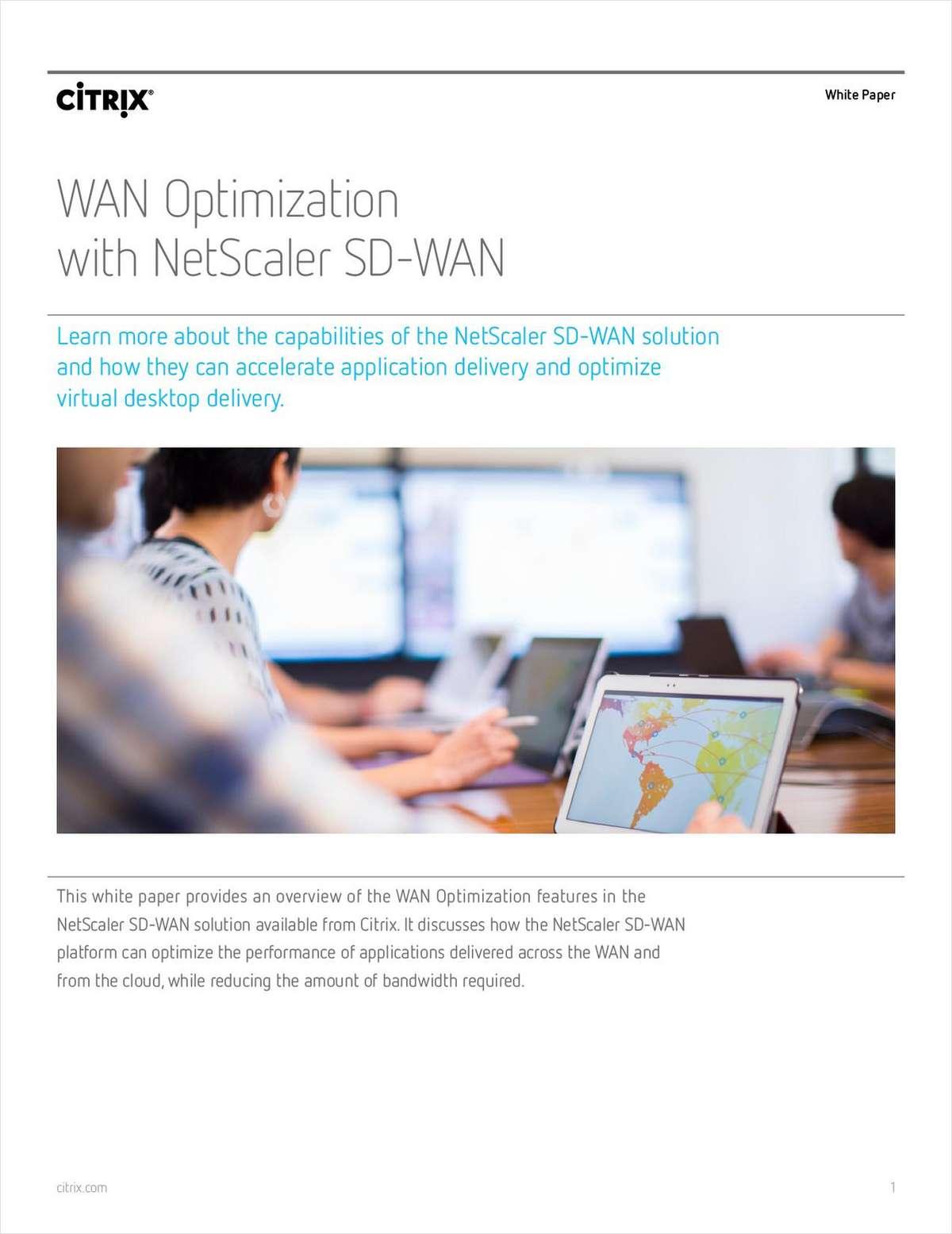 WAN Optimization with NetScaler SD-WAN