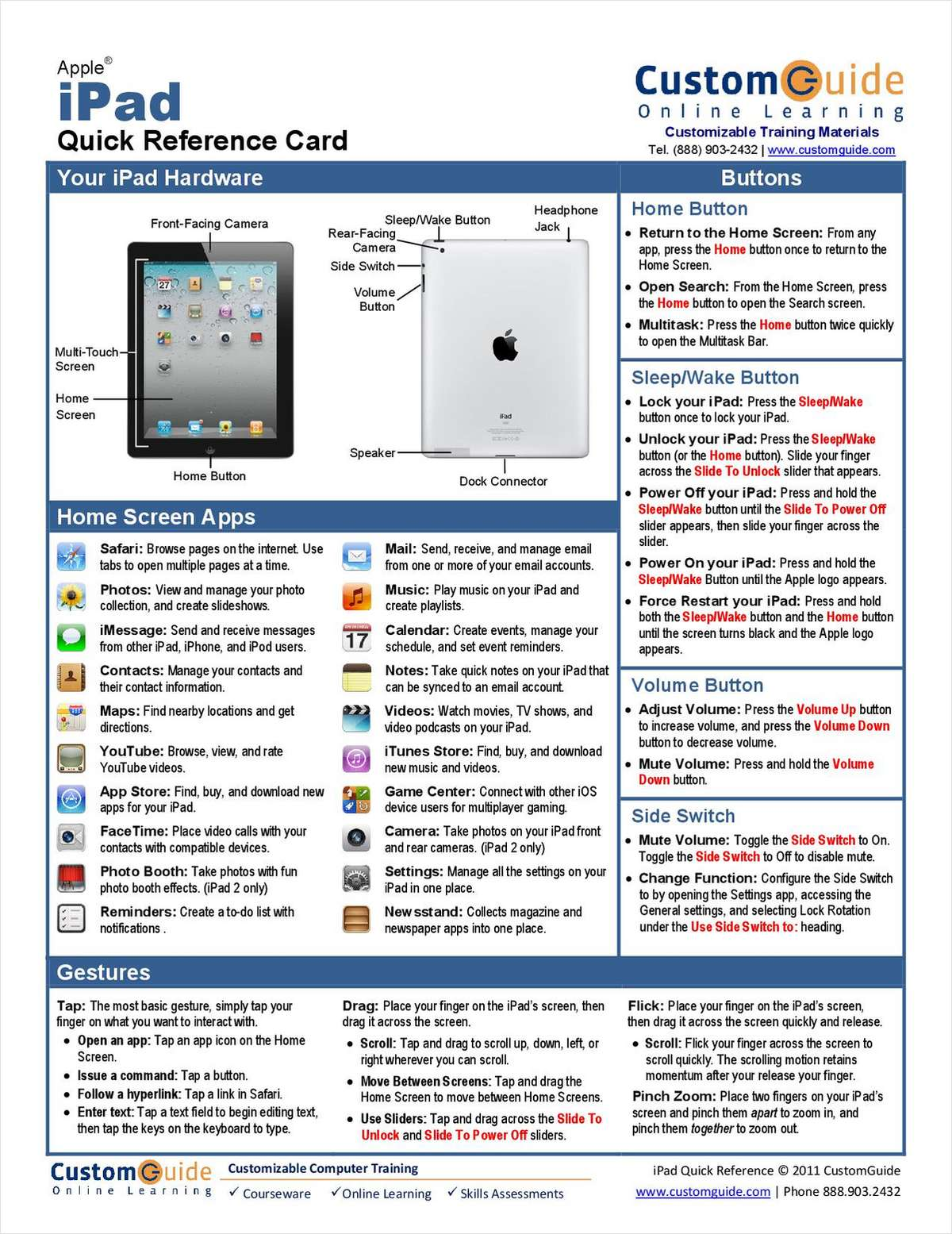 Apple iPad - Free Quick Reference Card