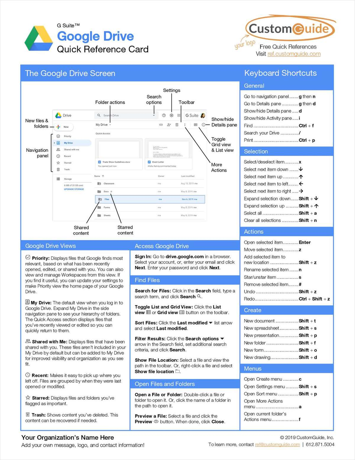 Google Drive- Free Reference Card