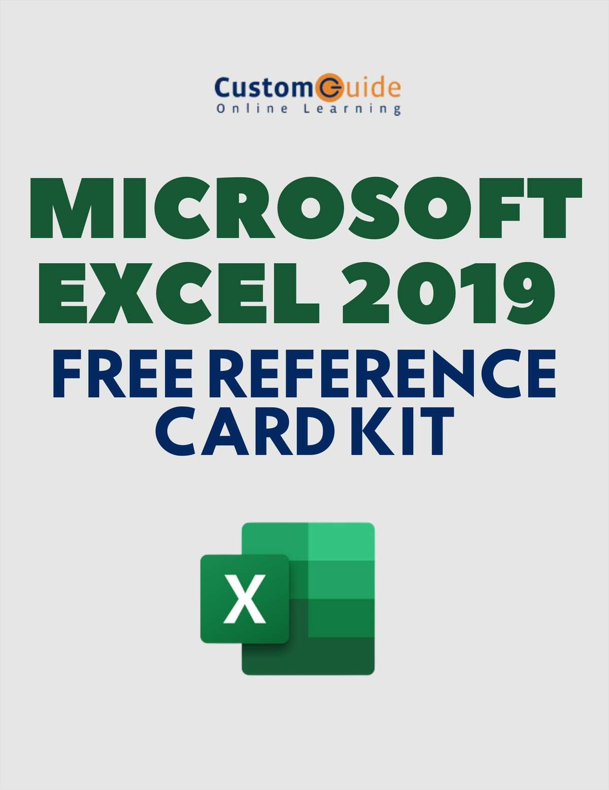 Microsoft Excel 2019 -- Free Reference Card Kit