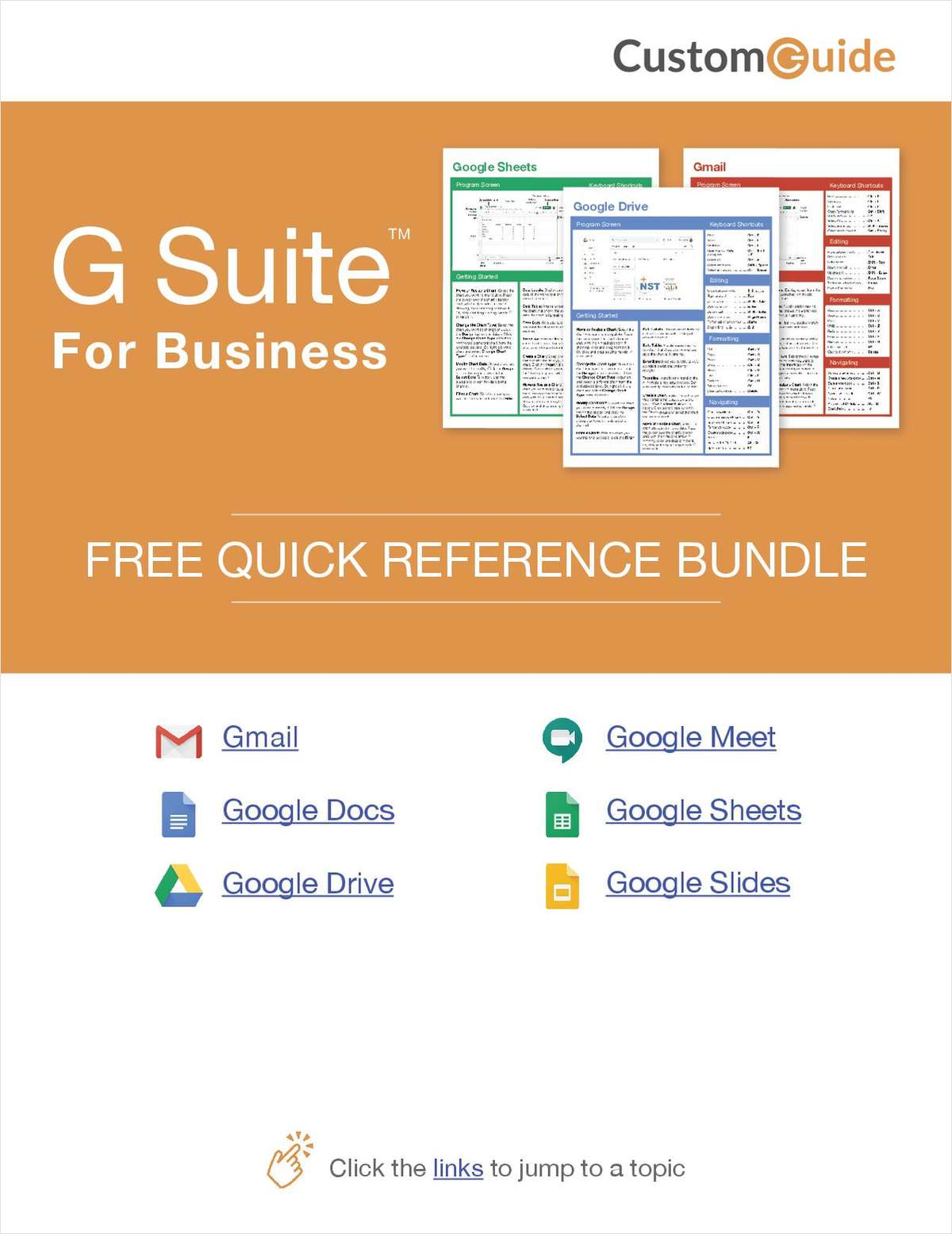 G-Suite for Business -- Free Reference Card Bundle