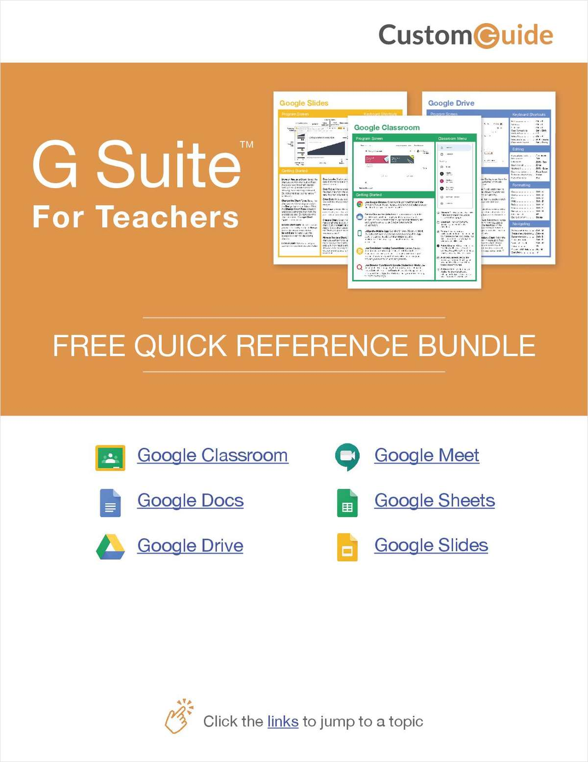 G-Suite for Teachers-- Free Reference Card Bundle