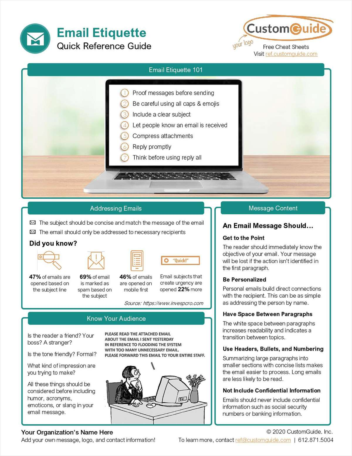 Email Etiquette Quick Reference Guide
