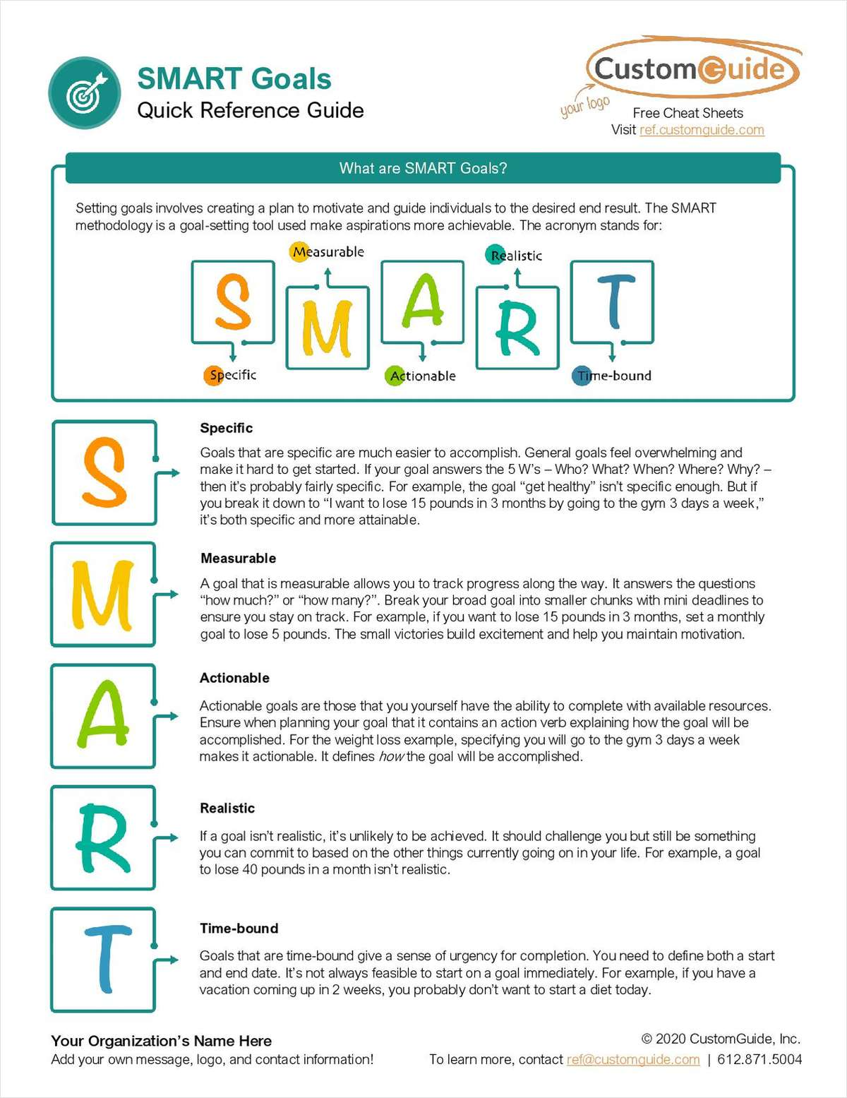 SMART Goals Quick Reference Guide