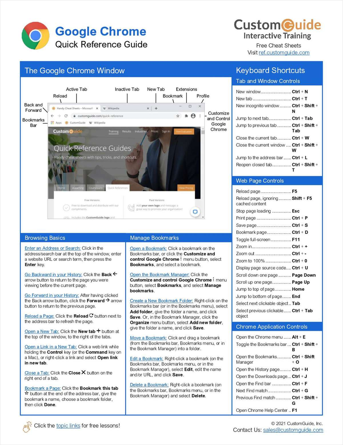 Google Chrome Quick Reference Guide