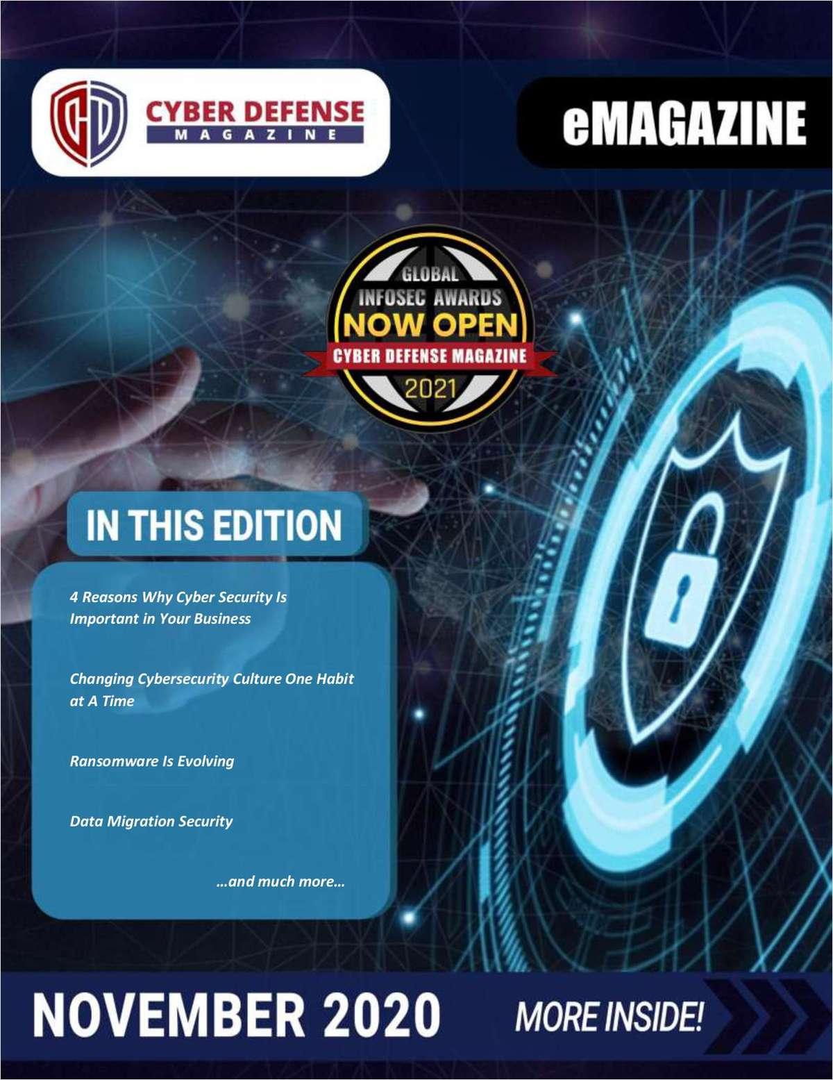 Cyber Defense Magazine November 2020 Edition