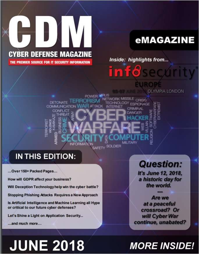 Cyber Defense eMagazine - How Will GDPR Affect Your Business   - June 2018 Edition